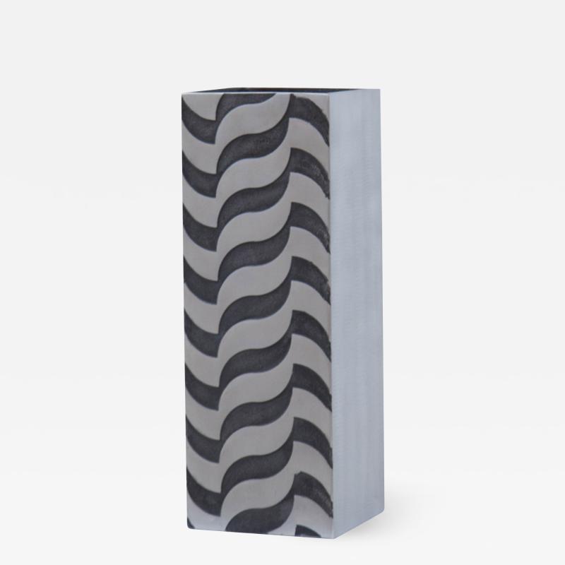 A Sculptural Modernist Tall Vase by Artist Lorenzo Burchiellaro