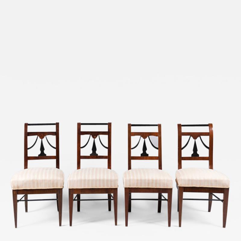 A Set of Four Biedermeier Chairs