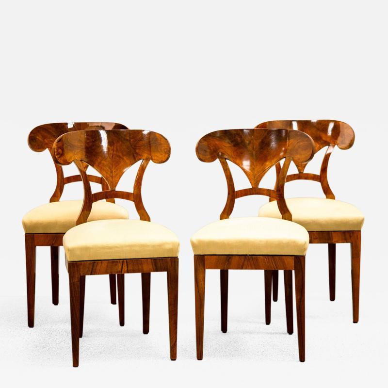 A Set of Four Biedermeier Side Chairs