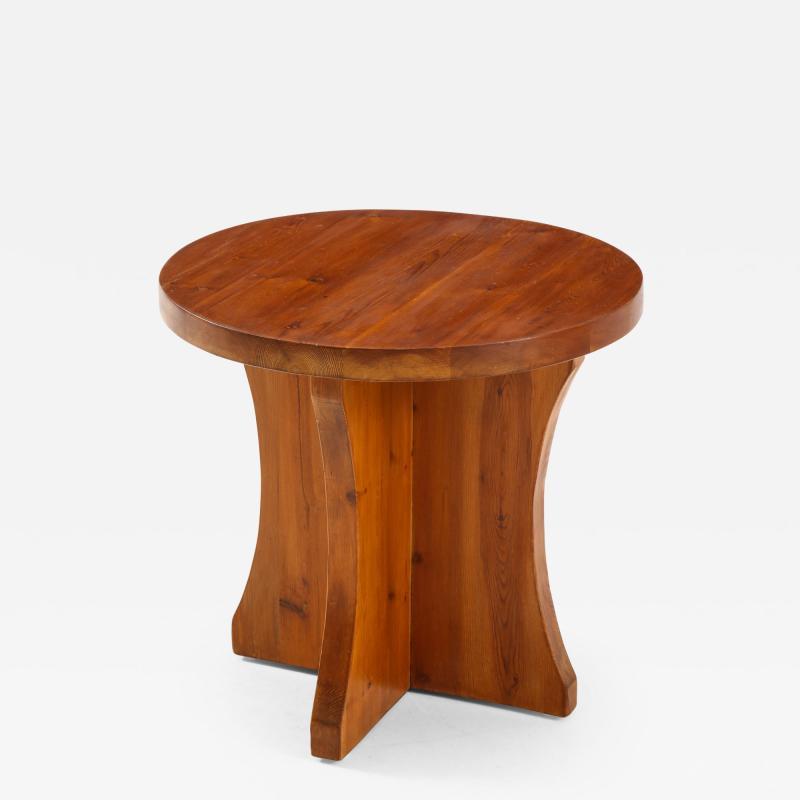 A Swedish Modernist Solid Pine Side Table Circa 1930 40