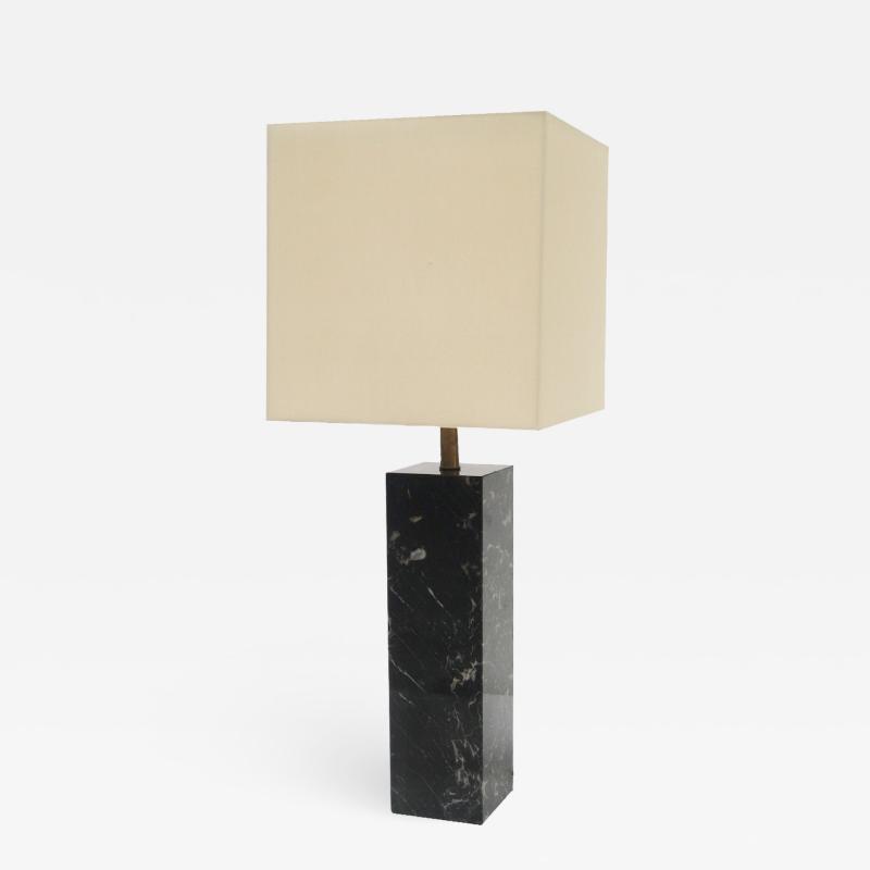A Walter Van Nessin Marble Mid Century Table Lamp