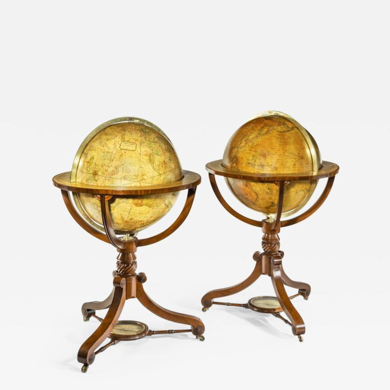 A pair of 20 inch floor globes by Newton and Sons