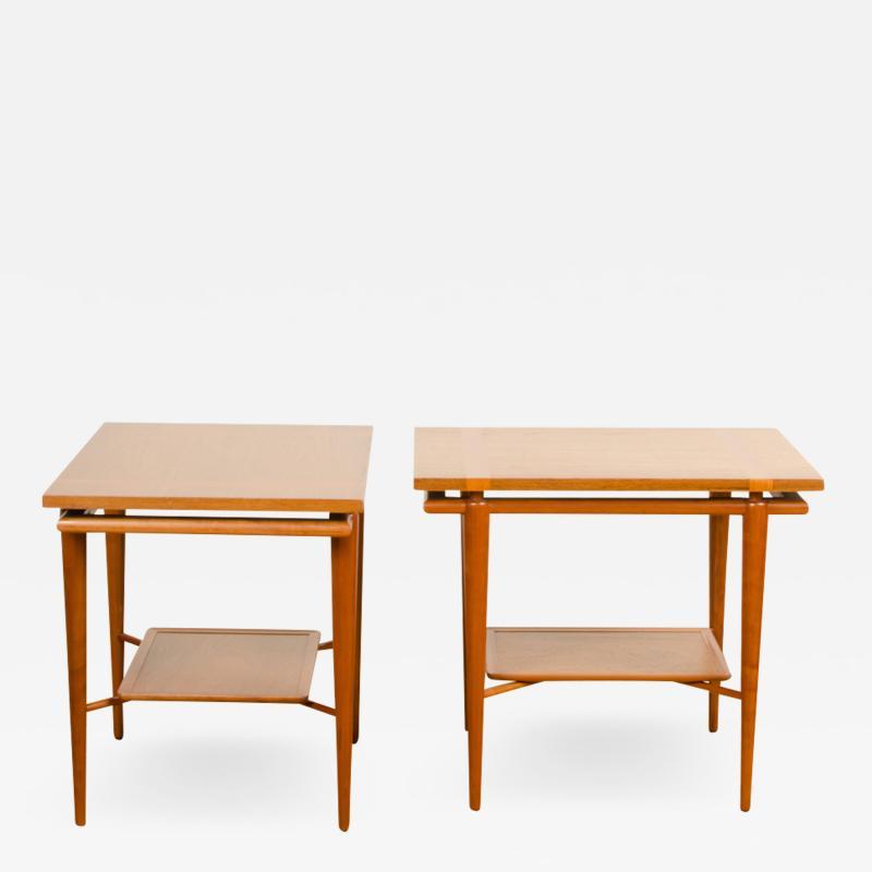 A pair of Mid Century Modern side tables designed by T H Robsjohn Gibbings