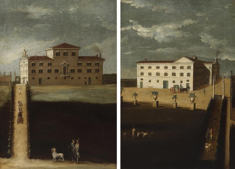 A pair of mid 18th century architectural Neapolitan views