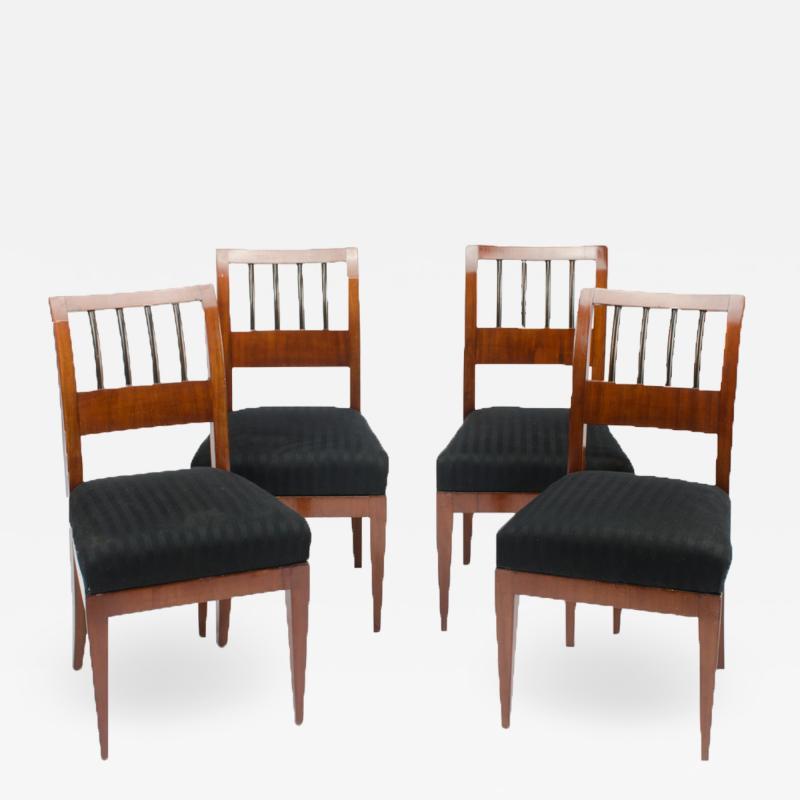 A set of four restored Biedermeier chairs mahogany circa 1840