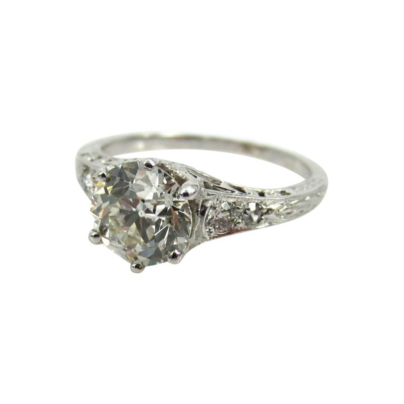 ANTIQUE OLD EUROPEAN CUT DIAMOND ENGAGEMENT RING 1 25 CTS