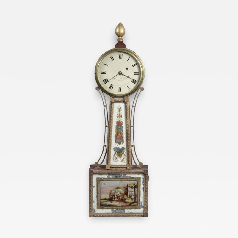Aaron Willard FEDERAL BANJO CLOCK With Works by Aaron Willard
