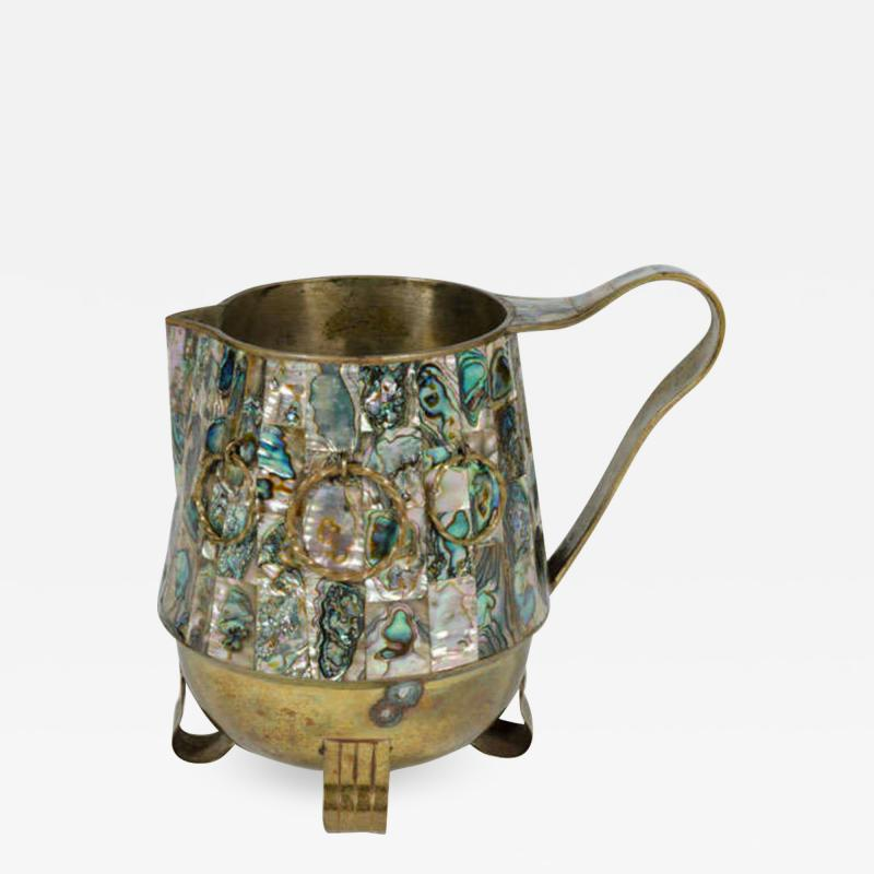 Abalone Shell and Brass Water Pitcher by Salvador Teran