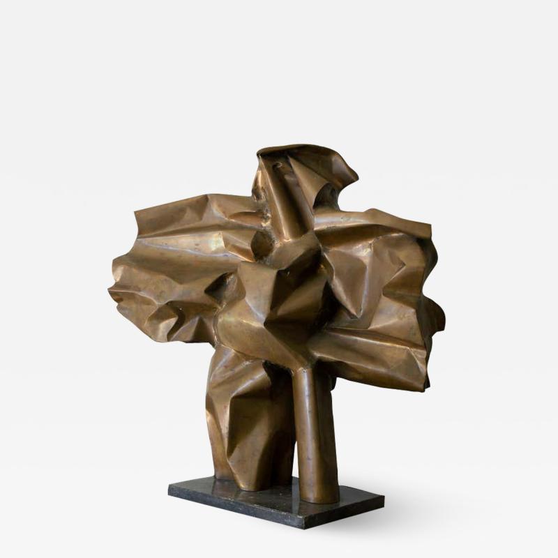 Abbott Pattison Abbott Pattison Sculpture Abstract Bronze Titled Flight 1977 Large Scale