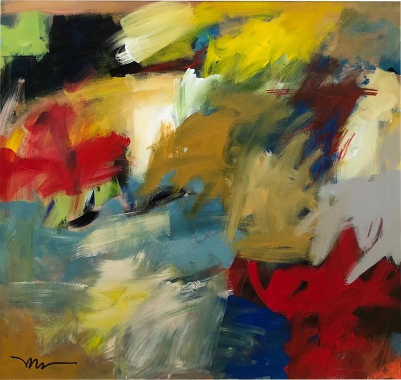 Abstract Expressionist Painting by Susan Morosky Neon Day Field 3