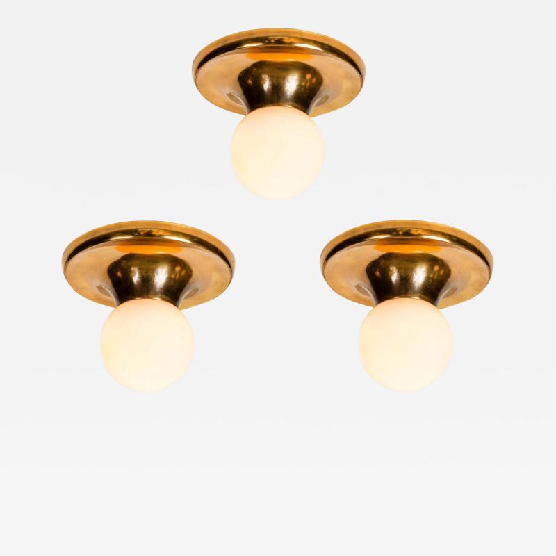 Achille Castiglioni Set of 3 1960s Achille Castiglioni LIGHT BALL Wall or Ceiling Lamps for Flos