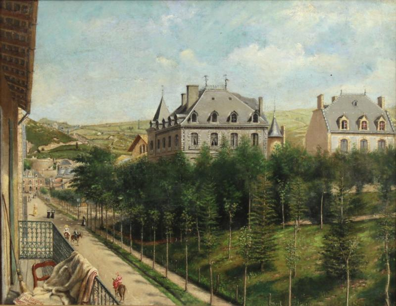 Achille Ernest Mouret Achille Ernest Mouret 19th c French Villa Beausejour 1840 60