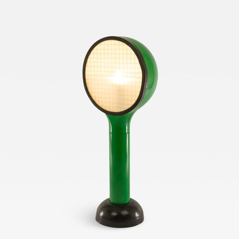 Adalberto Dal Lago Green table lamp Drive by Adalberto Dal Lago for Francesconi 1960s