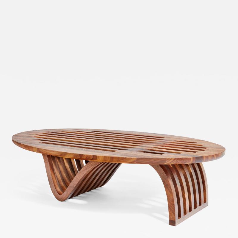 Adam Zimmerman Elliptical Coffee Table by Studio Craft Artist Adam Zimmerman 21st Century