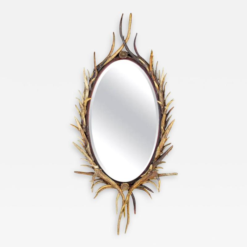 Adirondack Natural Antler Mirror