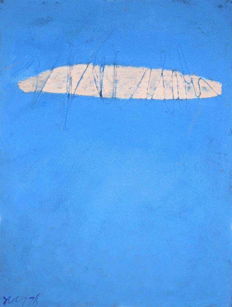 Adja Yunkers Skywriting Acrylic Painting by Adja Yunkers 1978
