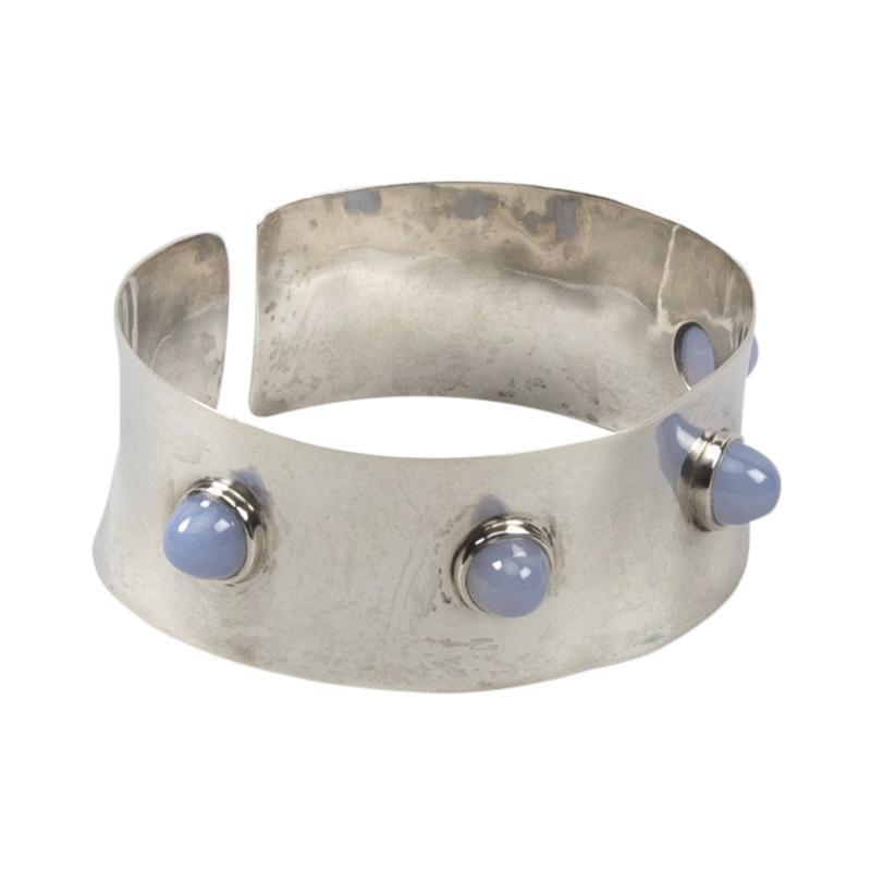Ado Chale A Silver and blue tourmaline cuff band