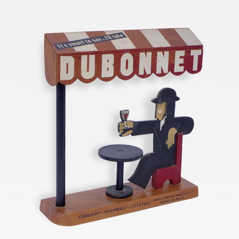 Adolphe Mouron Cassandre 3D Wood Promotional Display Dubonnet by AM Cassandre 1932