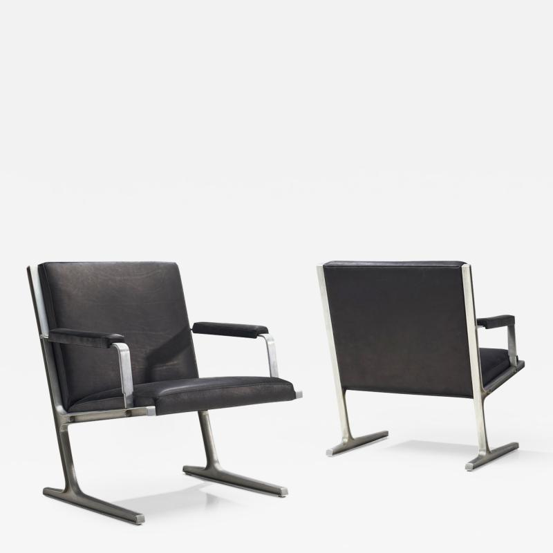 Adrian Heath Pair of Lufthavns Stole Chairs by Ditte Heath Adrian Heath for Cado DK 1969