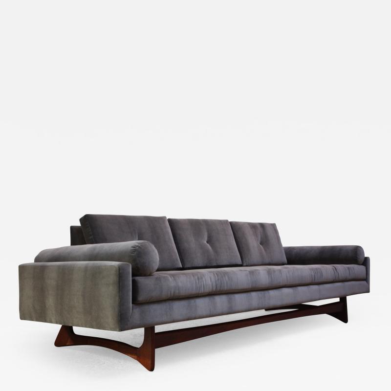 Adrian Pearsall Adrian Pearsall for Craft Associates Gondola Sofa in Walnut and Velvet