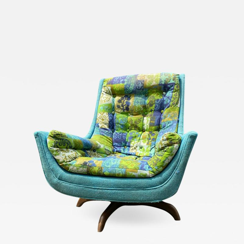 Adrian Pearsall EXCEPTIONAL MID CENTURY ADRIAN PEARSALL SWIVEL BASE ARMCHAIR