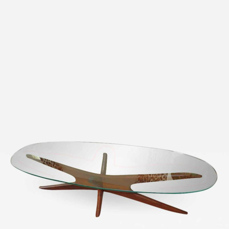 Adrian Pearsall Elongated Sculptural Jax Cocktail Table by Adrian Pearsall Mid Century Modern