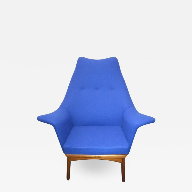 Adrian Pearsall Excellent Adrian Pearsall Sculptural Walnut Wingback Lounge Chair Mid Century