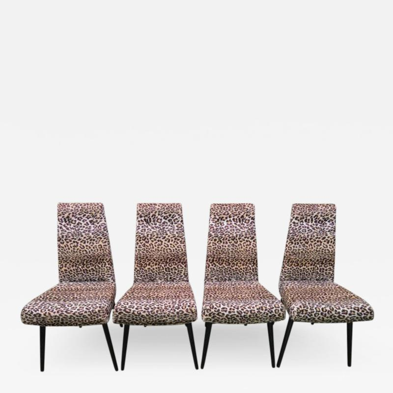 Adrian Pearsall Fantastic Set Four Adrian Pearsall Lacquered Dining Chairs Mid Century Modern
