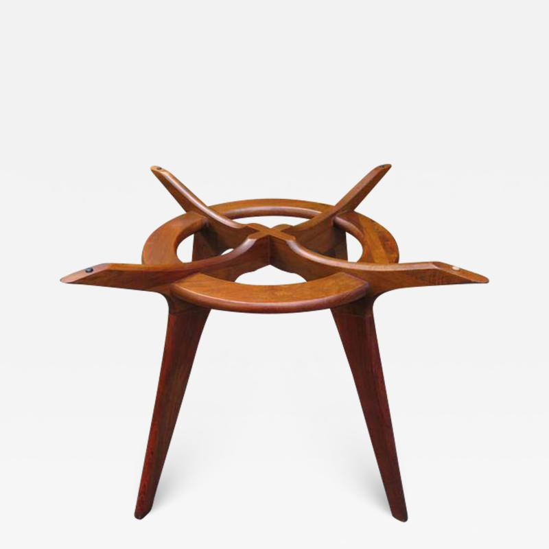 Adrian Pearsall Gorgeous Adrian Pearsall Sculptural Walnut Dining Table Mid Century Modern
