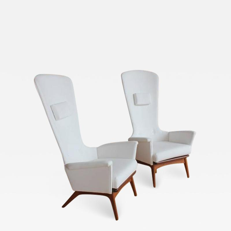 Adrian Pearsall Sculptural High Back Lounge Chair by Adrian Pearsall