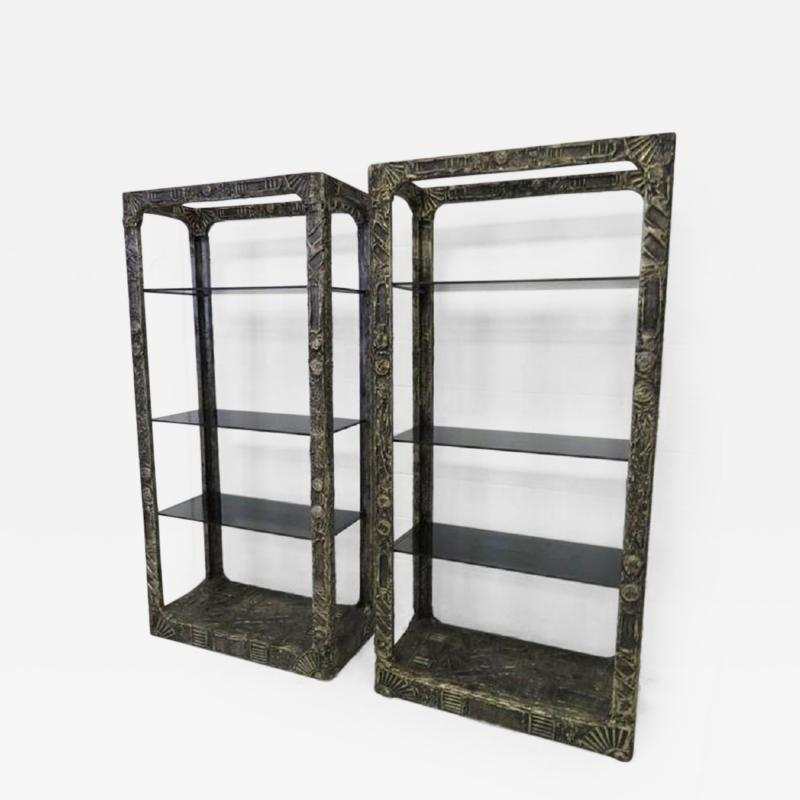 Adrian Pearsall Unusual and Rare Pair of Adrian Pearsall Brutalist Etageres