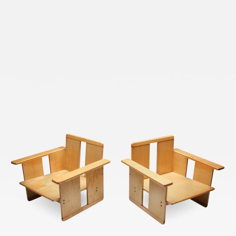 Afra Tobia Scarpa Afra Tobia Scarpa crate chairs Maxalto 1970s