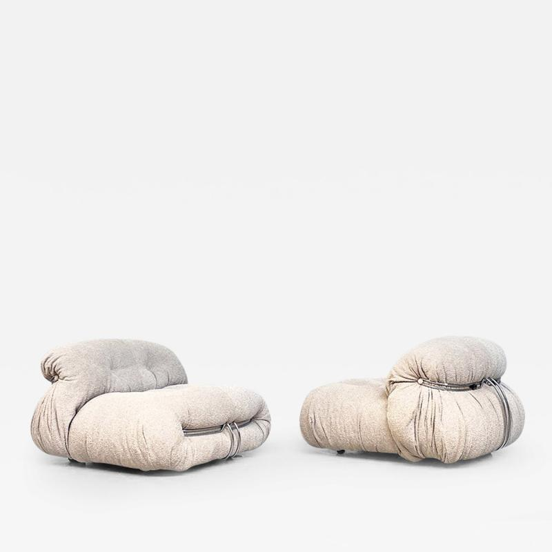 Afra Tobia Scarpa Armchairs mod Soriana by Afra and Tobia Scarpa for Cassina 1970s