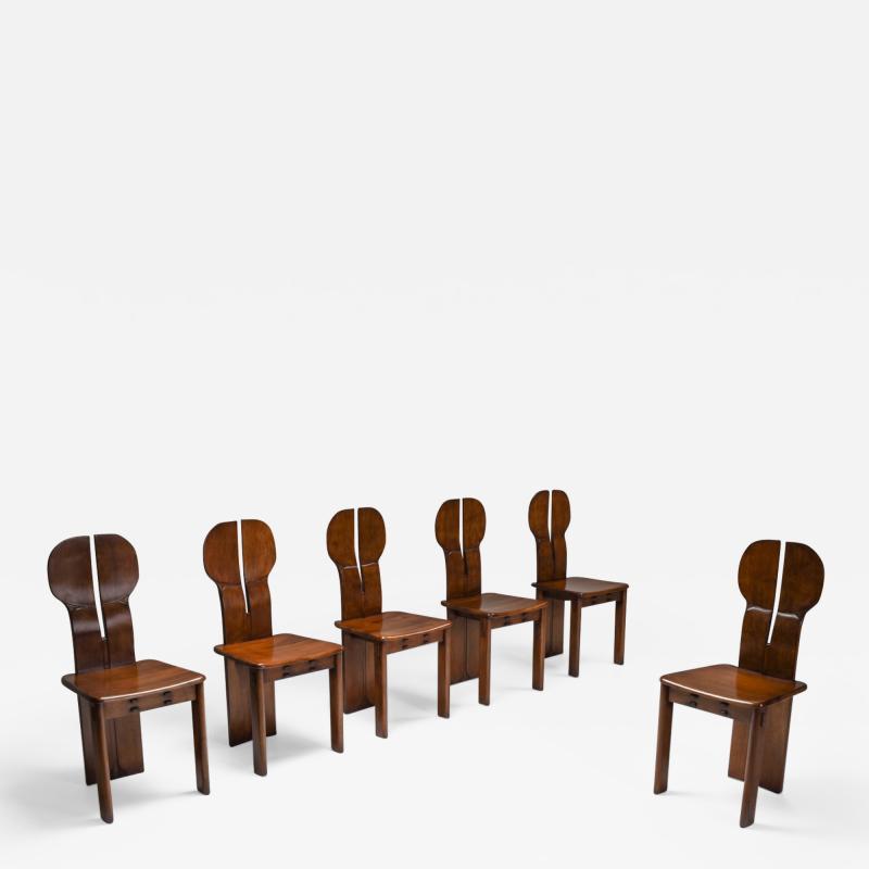 Afra Tobia Scarpa Italian Afra Tobia Scarpa Africa Dining Chairs for Maxalto 1975
