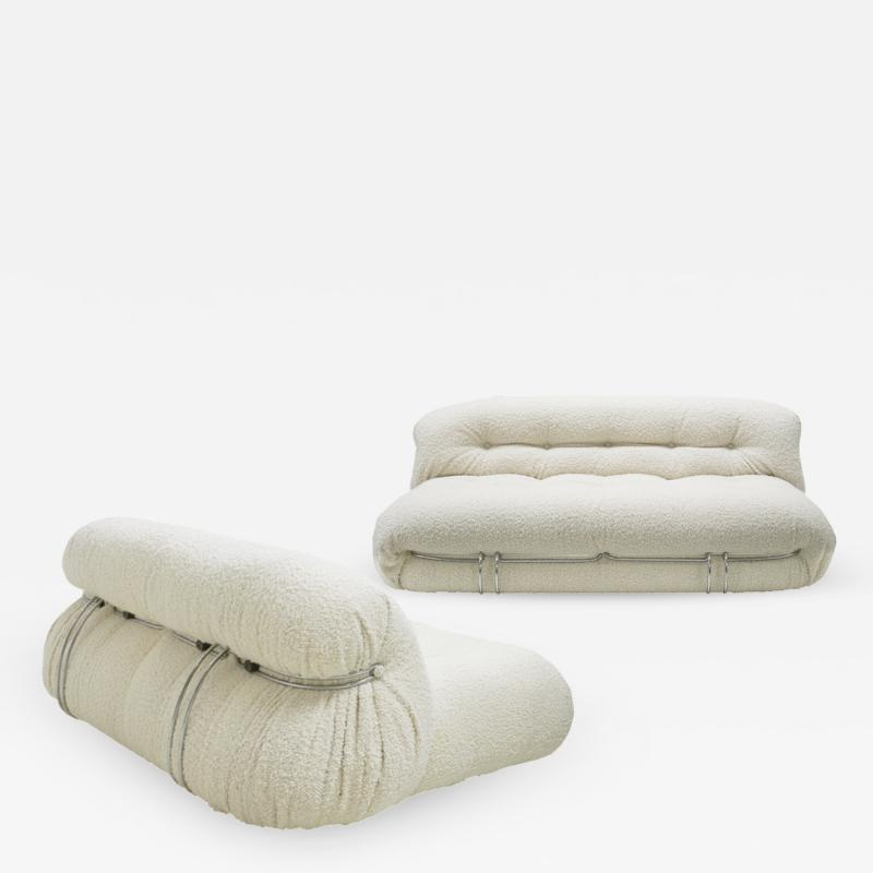 Afra Tobia Scarpa Pair Of Soriana Sofas Designed By Tobia Scarpa Edited By Cassina Italy 60s