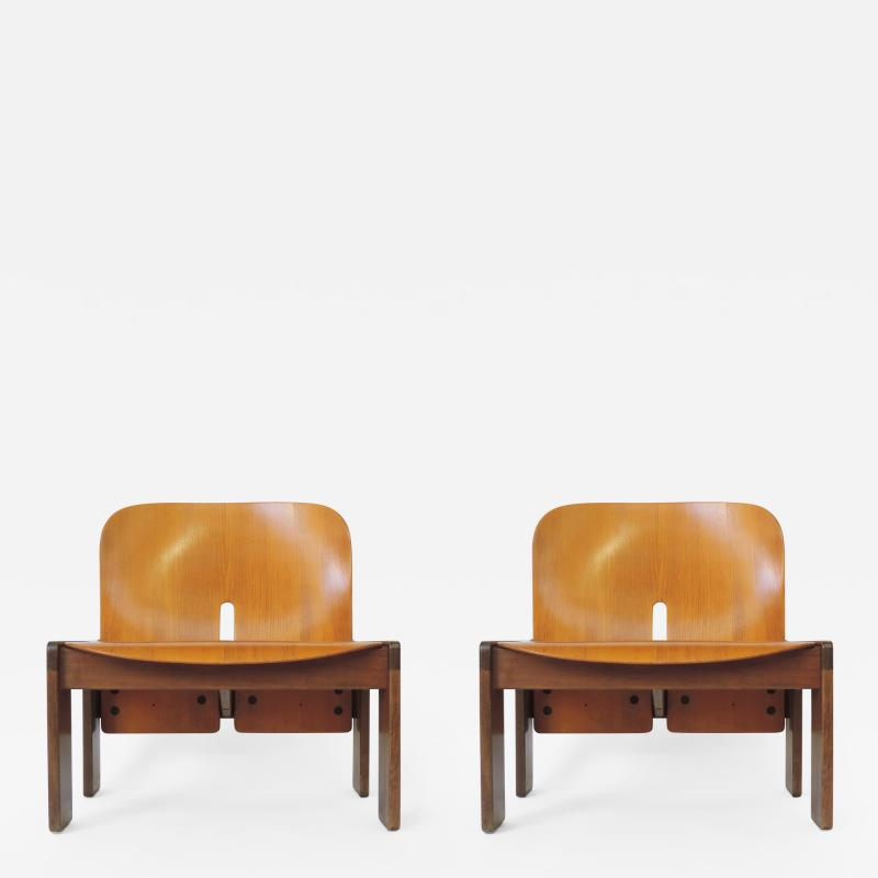 Afra Tobia Scarpa Pair of Afra Tobia Scarpa 925 Easy Chairs for Cassina Italy 1966