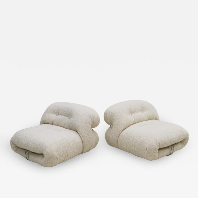 Afra Tobia Scarpa Pair of Soriana Armchairs Designed by Tobia Scarpa Edited by Cassina 1960s