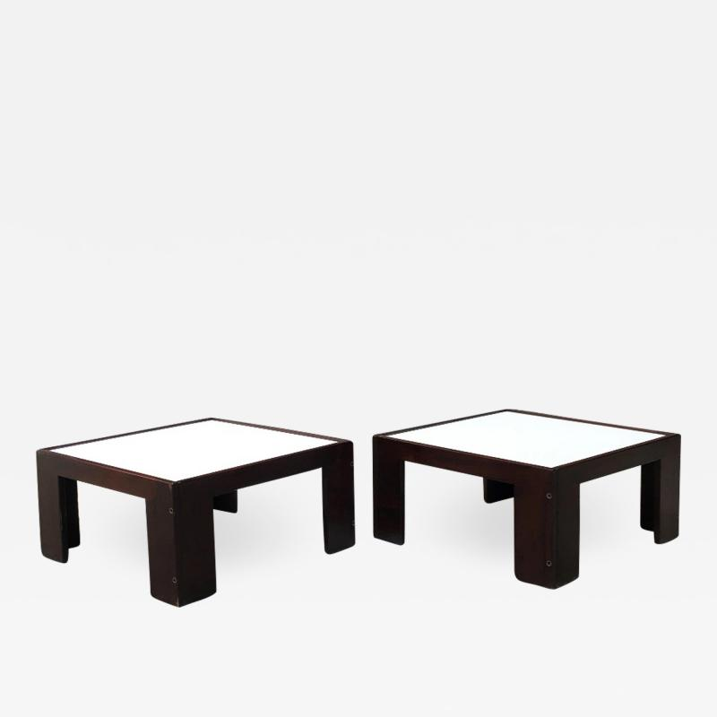 Afra Tobia Scarpa Set of two coffee table by Afra and Tobia Scarpa for Cassina 1970s