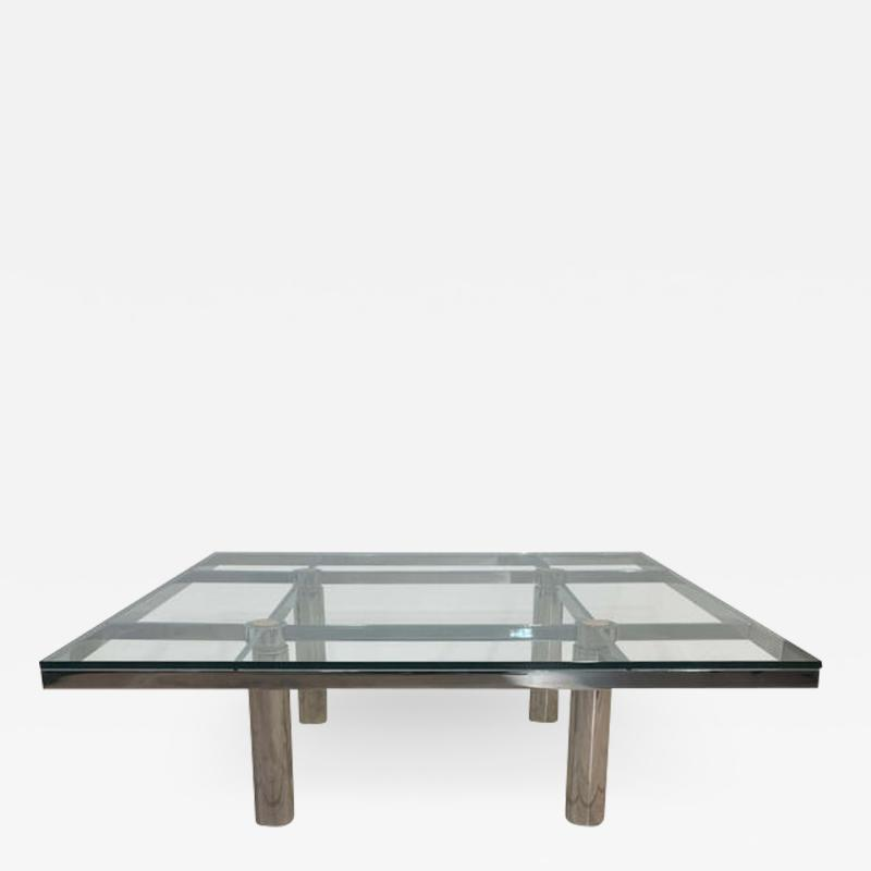 Afra Tobia Scarpa Sofa Table Andre by Afra Tobia Scarpa Chromed and Glass Italy circa 1970