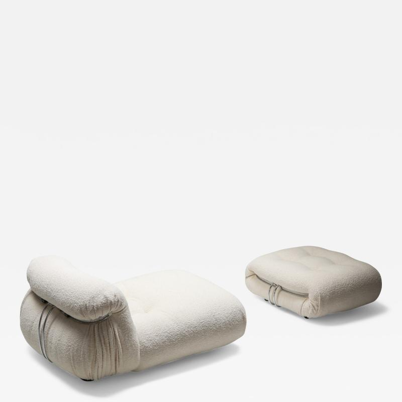 Afra Tobia Scarpa Soriana Lounge lounge chair Ottoman in Boucl by Afra Tobia Scarpa 1969