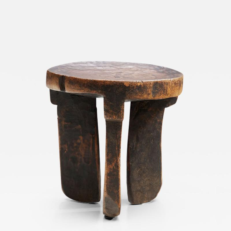 African Solid Wood Stool Africa ca 1950s