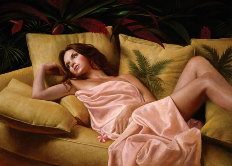 After Glow Contemporary Figurative Giclee Print by Dario Campanile