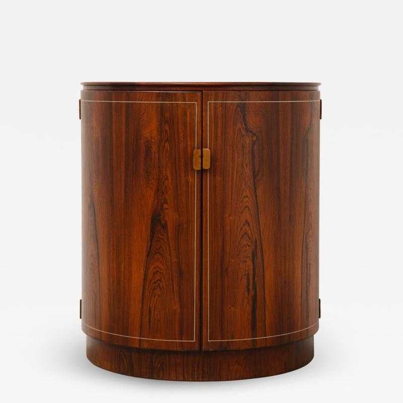 Agner Christoffersen Rosewood Demi Lune Cabinet by Agner Christoffersen for N C Christoffersen