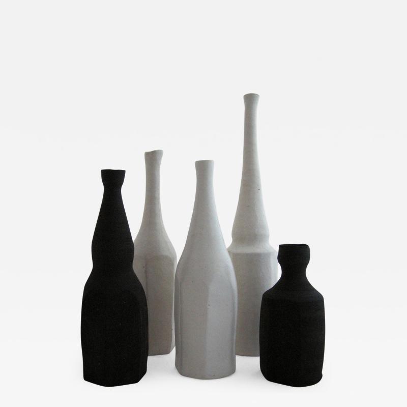 Akiko Hirai Akiko Hirai Set of Five Black and White Bottles