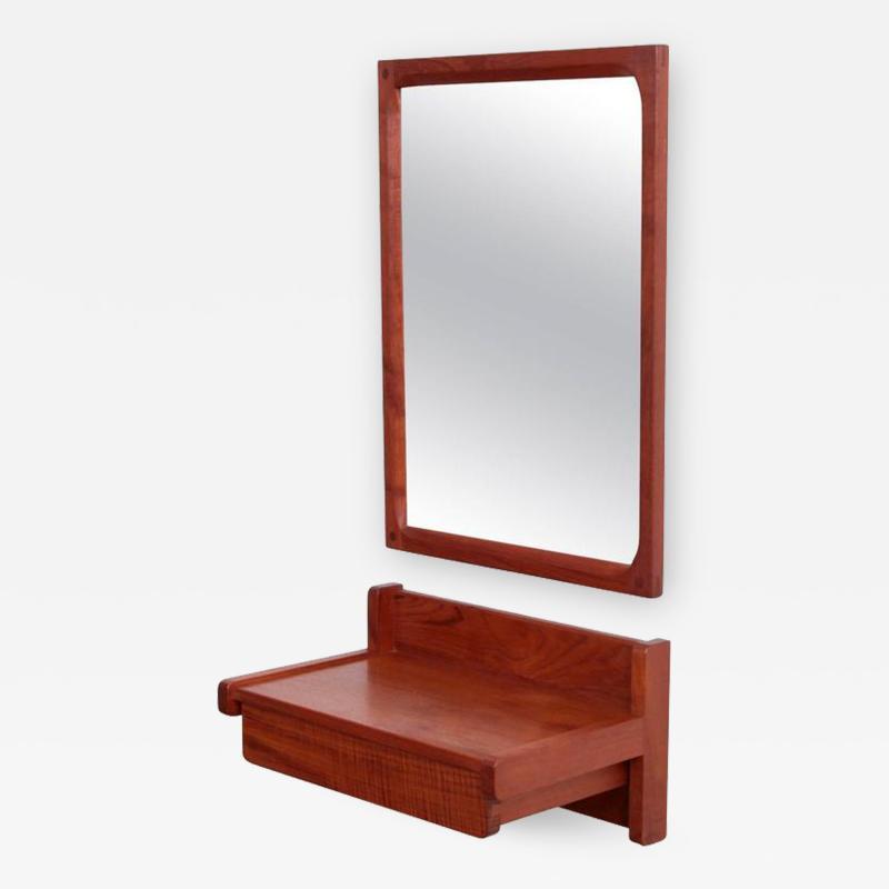 Aksel Kjersgaard Aksel Kjersgaard Set of Mirror and Drawer in Teak for Odder Denmark