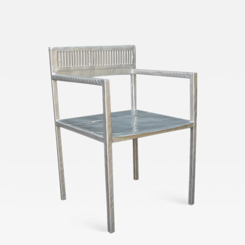 Al Jord o Contemporary Reta Chair from Cars Never Die Collection by Al Jord o Brazil