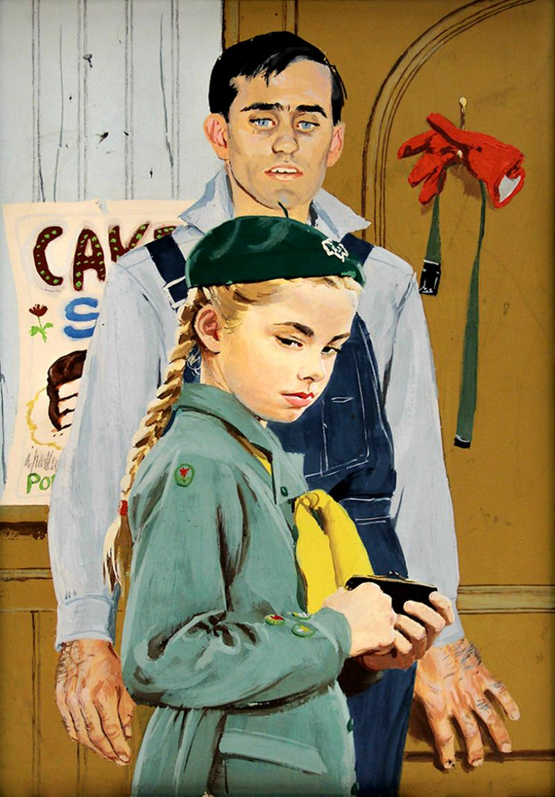 Al Parker Mary Vincent and the Convict Good Housekeeping Illustration