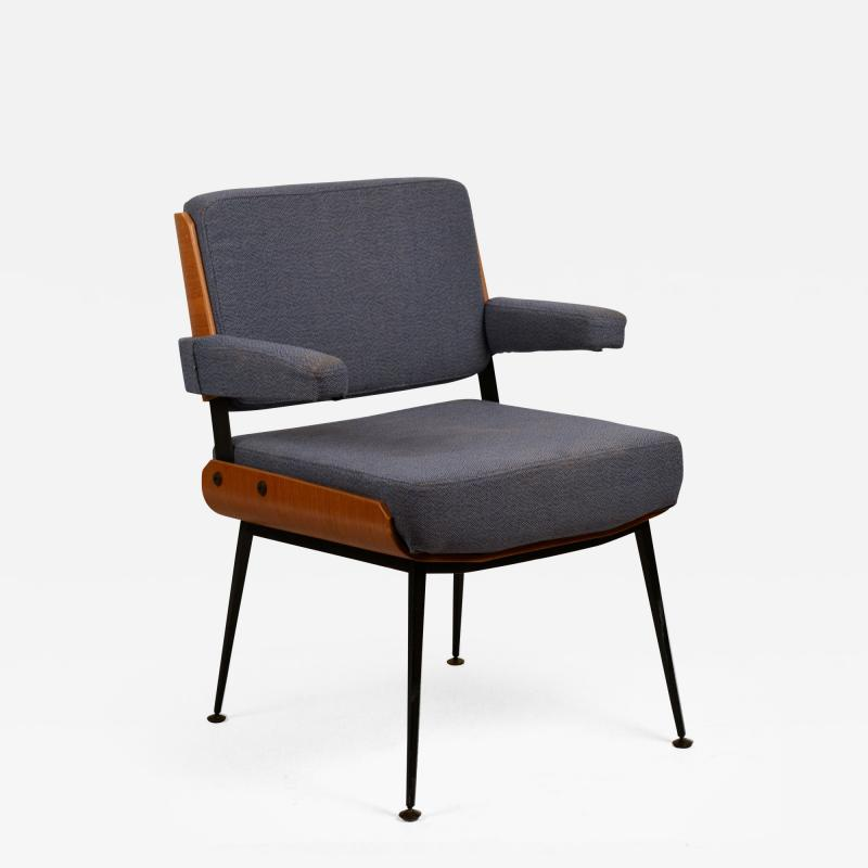Alain Richard Impeccable French 1960s Bentwood Armchair by Alain Richard