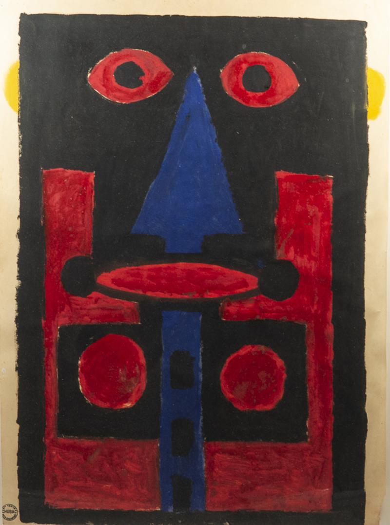 Albert Chubac Albert Chubac Painting Mixed Media circa 1965 France