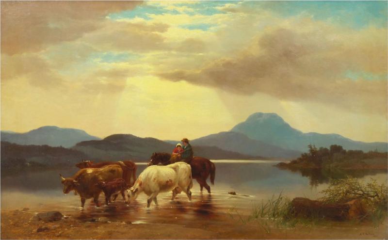 Albert Fitch Bellows Homeward Bound 1863 American Landscape Painting by Albert Fitch Bellows
